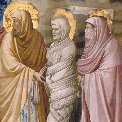 Giotto di Bondone, Die Auferweckung des Lazarus